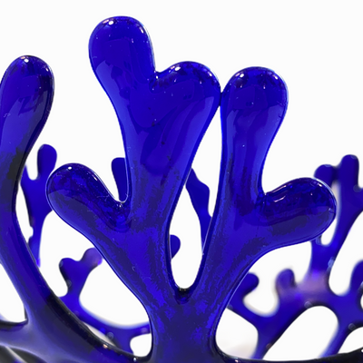 Coral Branch Bowl | Medium Cobalt Blue Glass