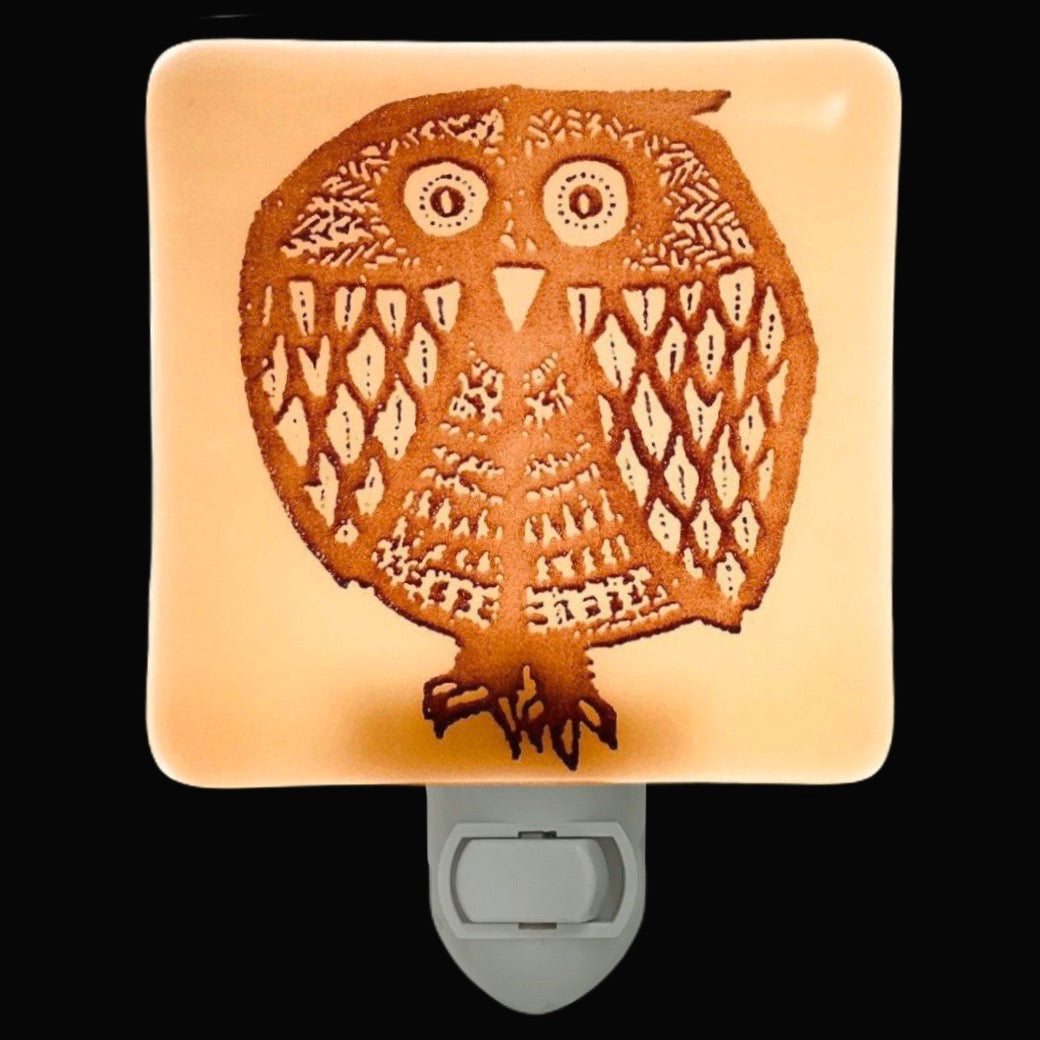 Owl Retro Night Night - Ivory Glass