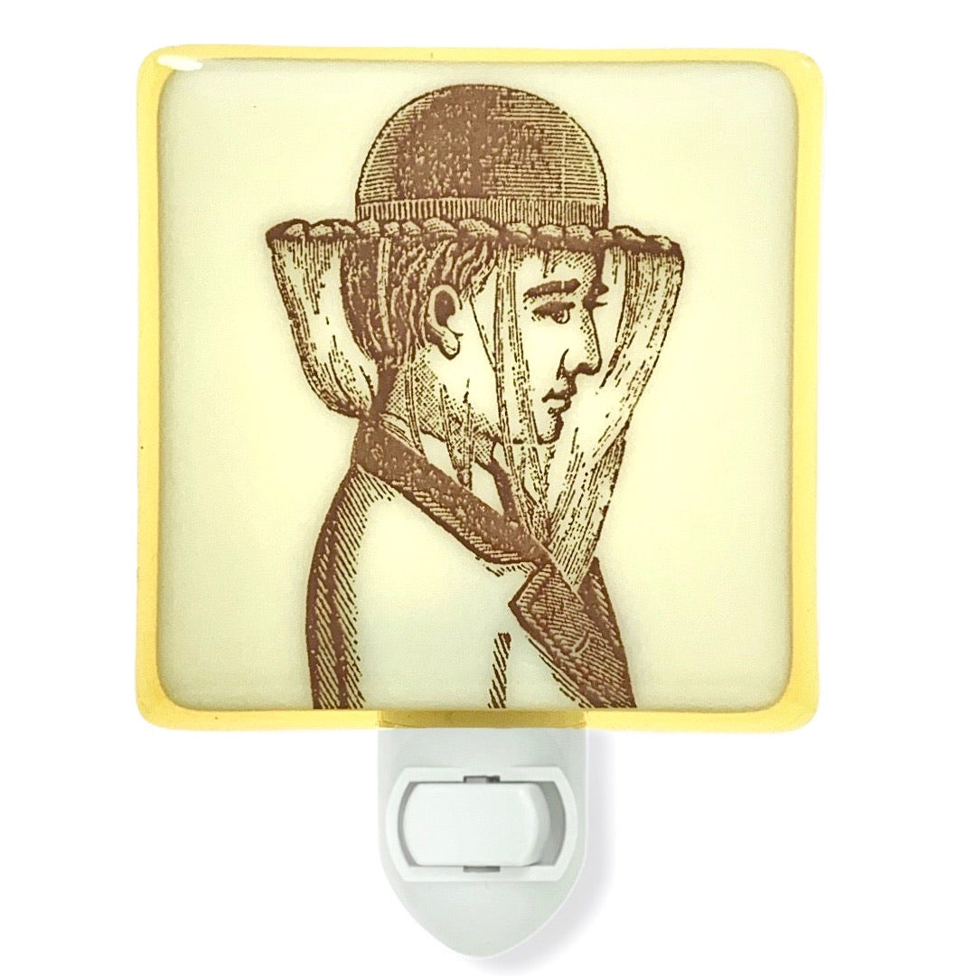 Victorian Bee Keeper Woman Night Light