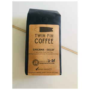 Twin Fin Coffee - Chicama Peru Organic Decaf