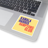 Kamala Harris Hamptons Club Kiss-Cut Stickers