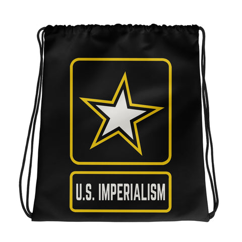 U.S. Imperialism Drawstring bag