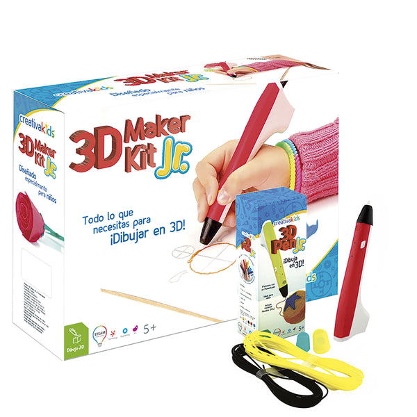 3D Maker Kit JR Rojo - Kit de dibujo 3D
