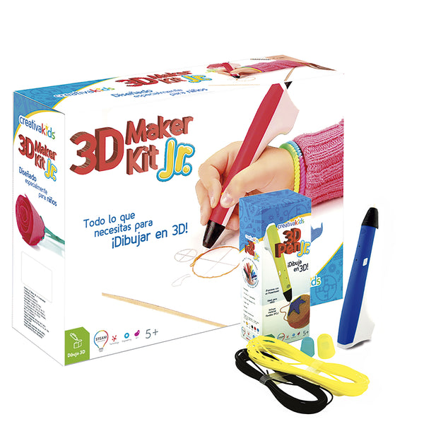 3D Maker Kit JR Azul - Kit de dibujo 3D