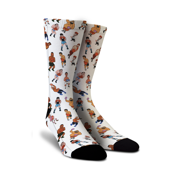 Grab Mike Tyson's Punch Out 80s socks with all of your favorite characters at Sock Game.