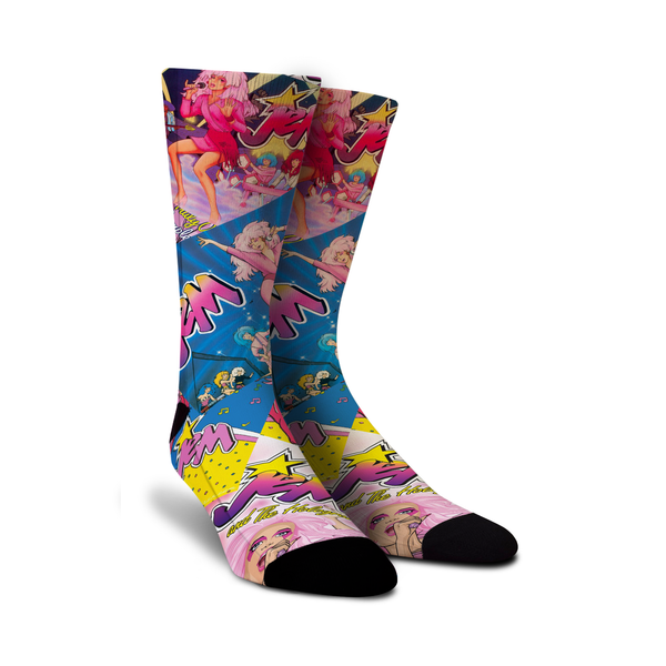 Dance your socks off with these rockin' Jem and the Holograms 80s socks from Sock Game!