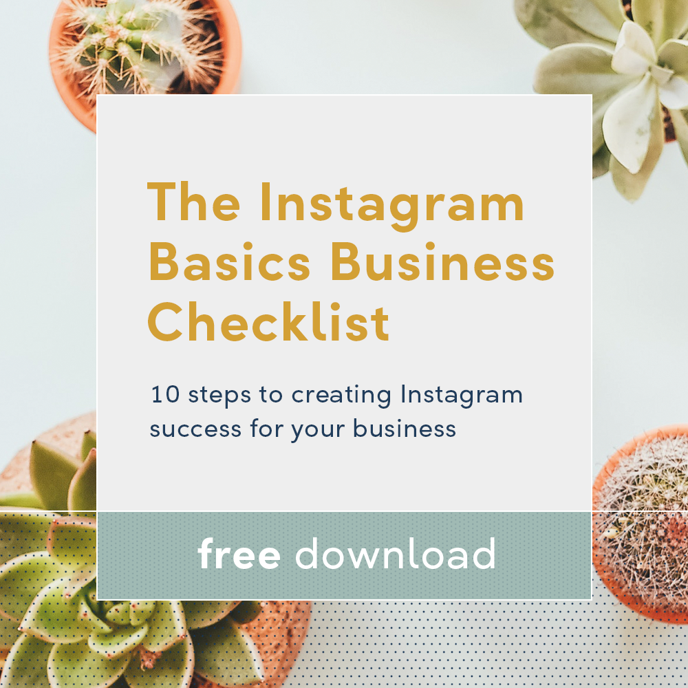 Instagram Business Basics Checklist free download
