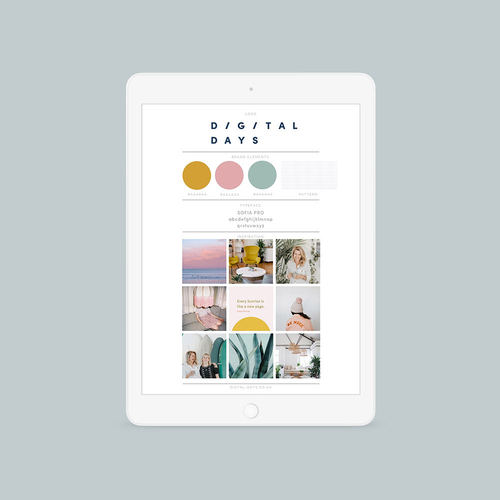 Customisable Brand Style Guide {Canva}