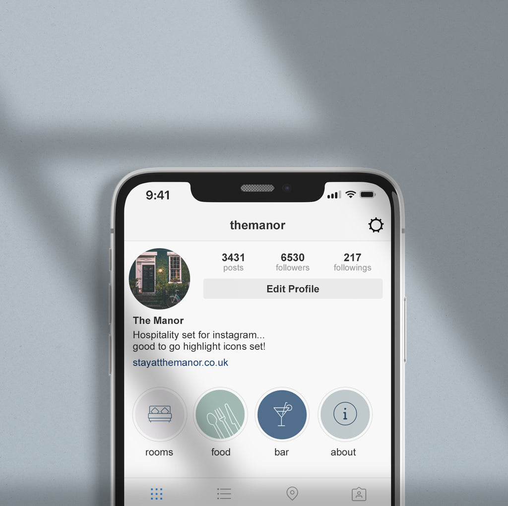 Instagram Highlight Covers -Set of 15  Hospitality Icons