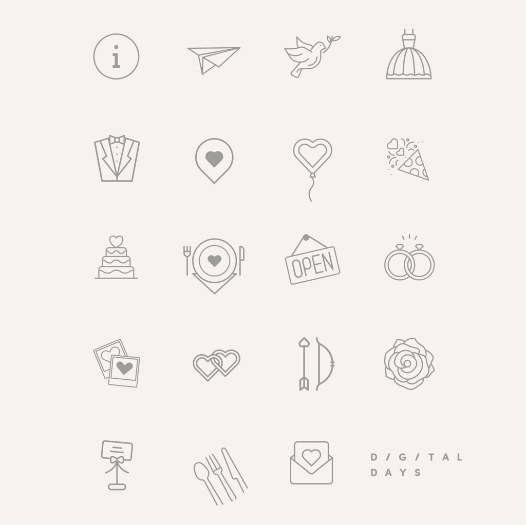 Instagram Highlight Covers -6x sets of 19 Wedding Industry Icons