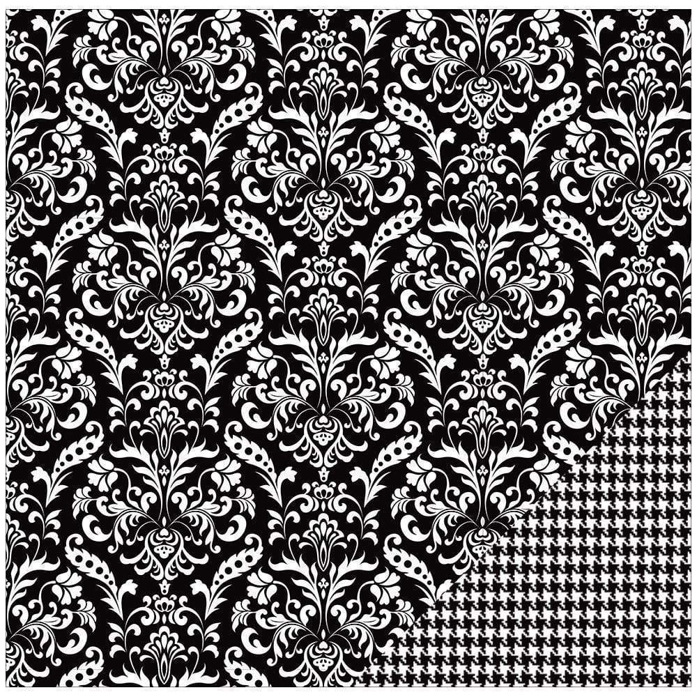 AC paper color memories black damask AMERICAN CRAFT CENTROARTESANO