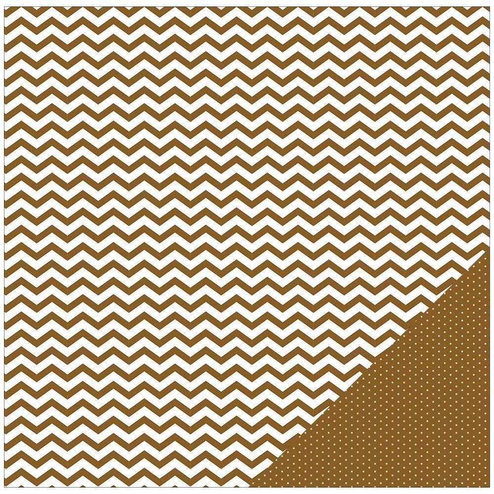 AC paper color memories brown chevron 368371 AMERICAN CRAFT CENTROARTESANO