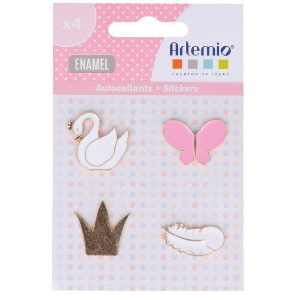 Artemio stickers enamels Lovely swan 11060667