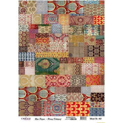 Cadence papel arroz 413 patchwork