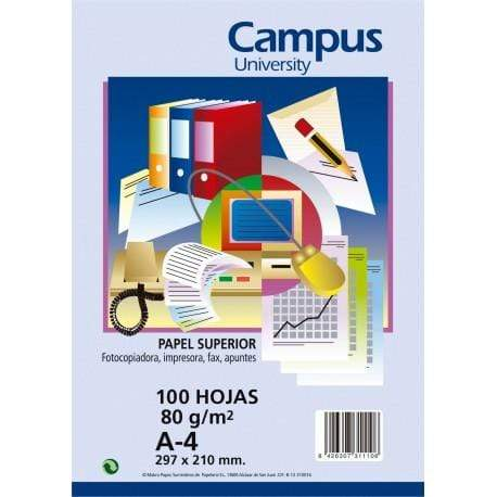 Papel A4 80g campus blanco 100h
