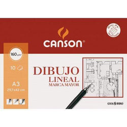 canson mini pack dibujo lineal 160gr A3