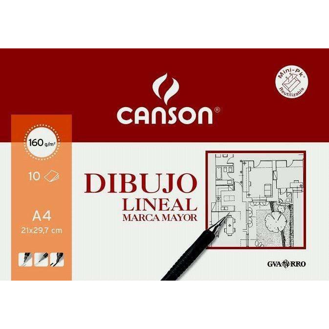 canson mini pack dibujo lineal 160gr A4