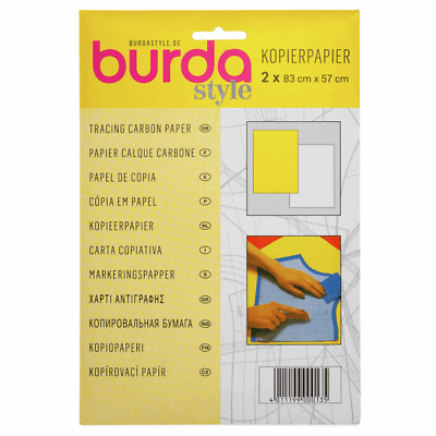 Burda Papel calco amarillo y blanco