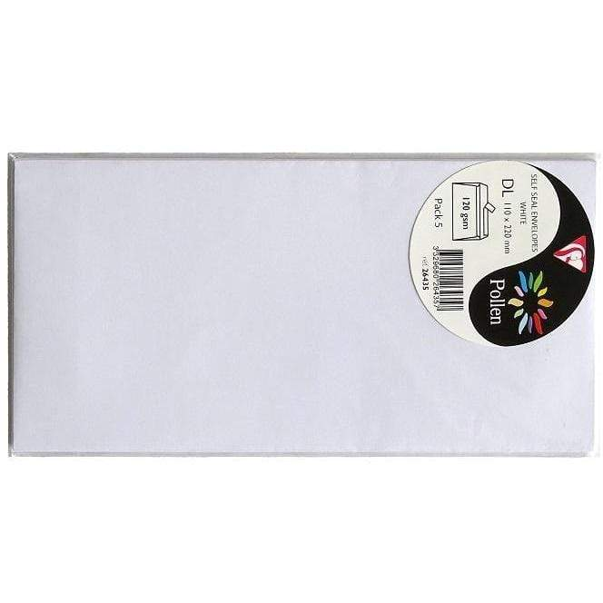 Sobre Popllen 110x220mm 120g 5ud blanco 26435 CLAIREFONTAINE CENTROARTESANO