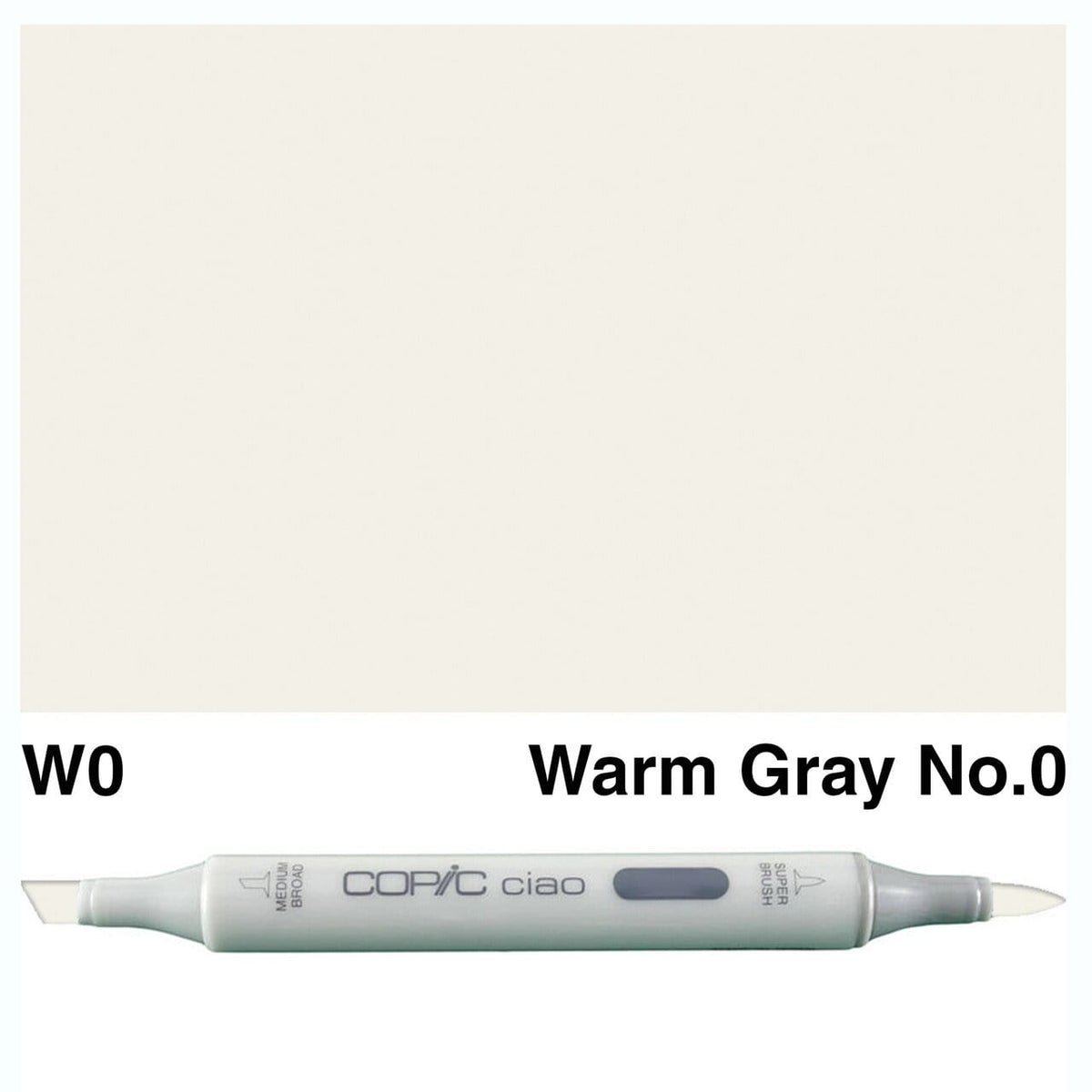 Copic Ciao W0 warm gray n║0