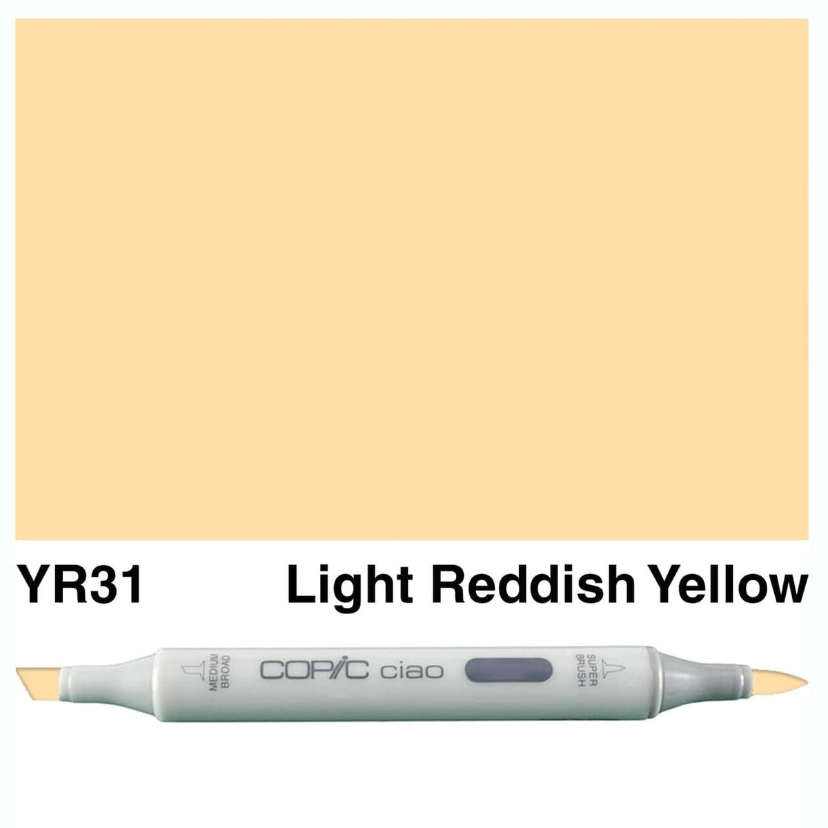 Copic Ciao YR31 lightreddish yellow