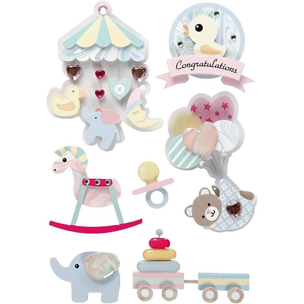 Deco accessories stickers 3D 27095 bebe CREATIV CENTROARTESANO
