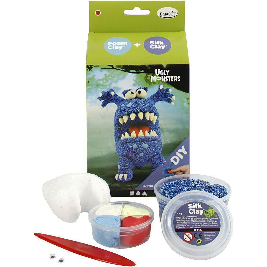 Easykit foam clay+Silk clay Ugly Monsters 100615 CREATIV CENTROARTESANO