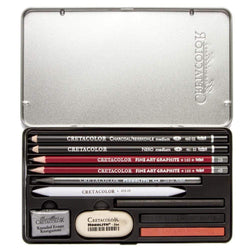 Cretacolor estuche metalico ref 40032 teachers choice 11ud