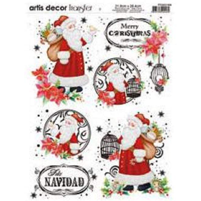 Artis decor transfer 21,8X28,4 PTGNEX-008 navidad DECO ART CENTROARTESANO
