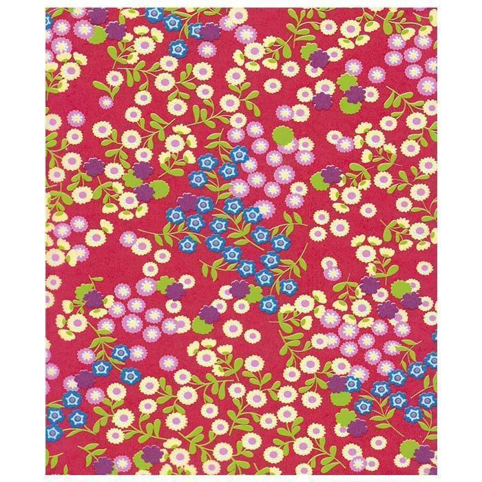Papel Decopatch FDA383O floresfondo rojo DECOPATCH CENTROARTESANO