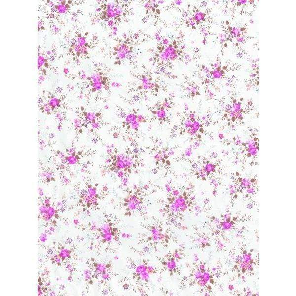 Papel Decopatch FDA570O Flores lila fondo blanco DECOPATCH CENTROARTESANO