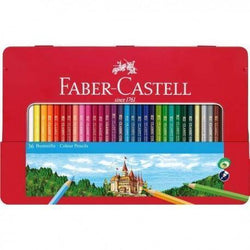 faber castell caja metal roja 36 lapices