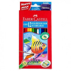 Faber castell caja roja lapices acuarelables 12 colores