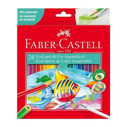 Faber castell caja roja lapices acuarelables 24 colores