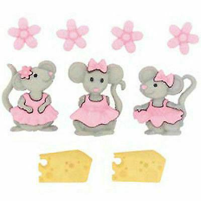 Set botones decorativos The mice grils 7676 J.PUYOL CENTROARTESANO