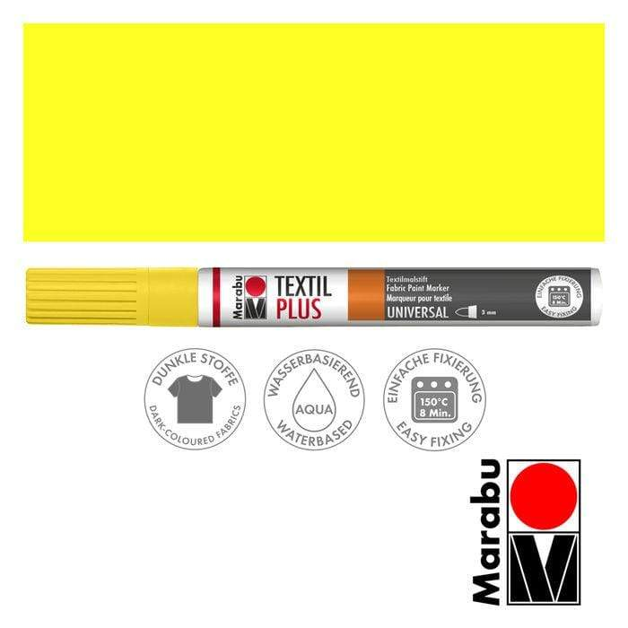 Marabu textil painter plus 3mm 019 amarillo MARABU CENTROARTESANO