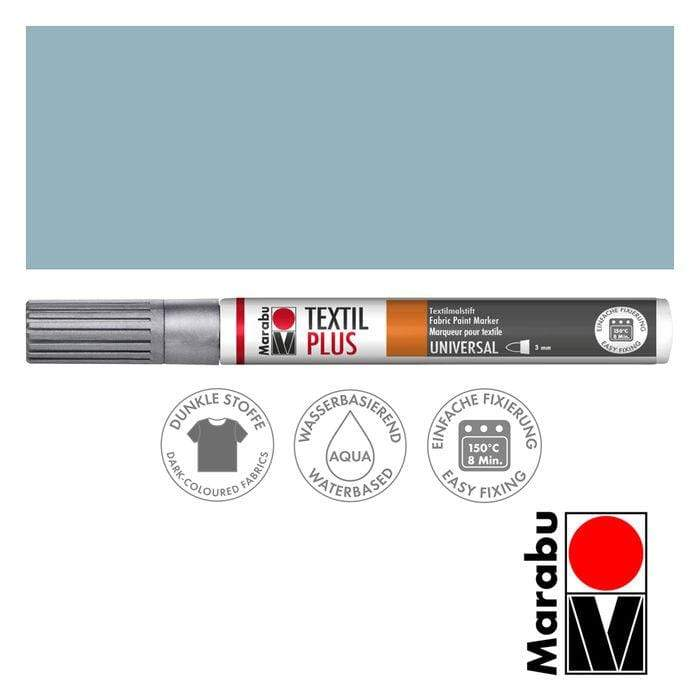 Marabu textil painter plus 3mm 782 plata MARABU CENTROARTESANO