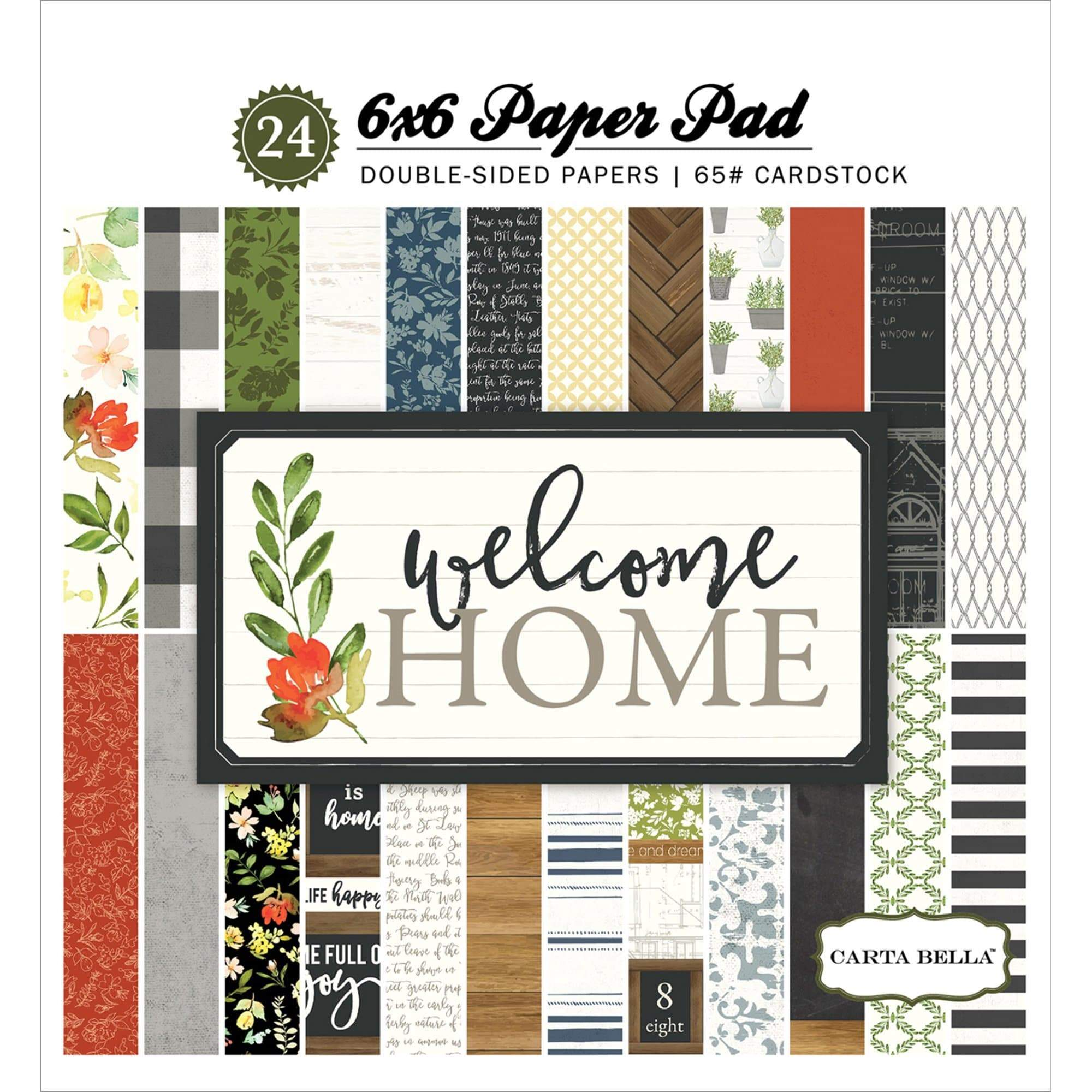 Carta Bella paper pad 15x15 24h Welcome home WHO74015 N/A CENTROARTESANO