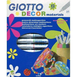 Rotulador giotto decor materiales 12