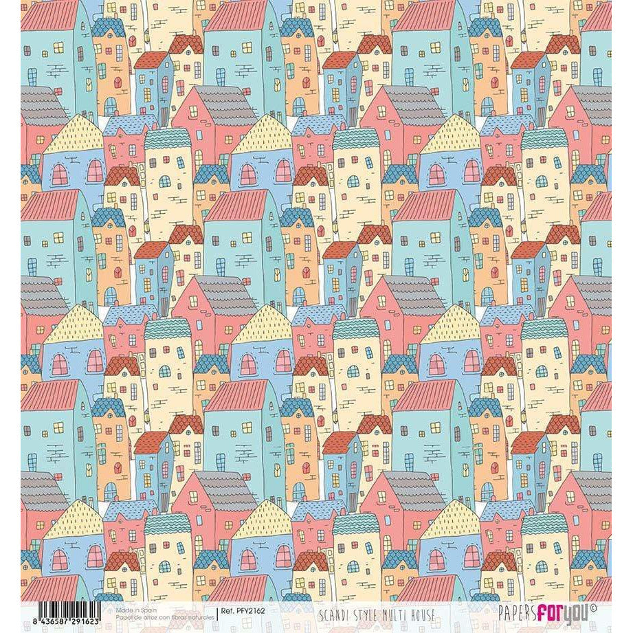 Papel arroz Papers for you 30x30cm PFY2162 Scandi Style Multi House