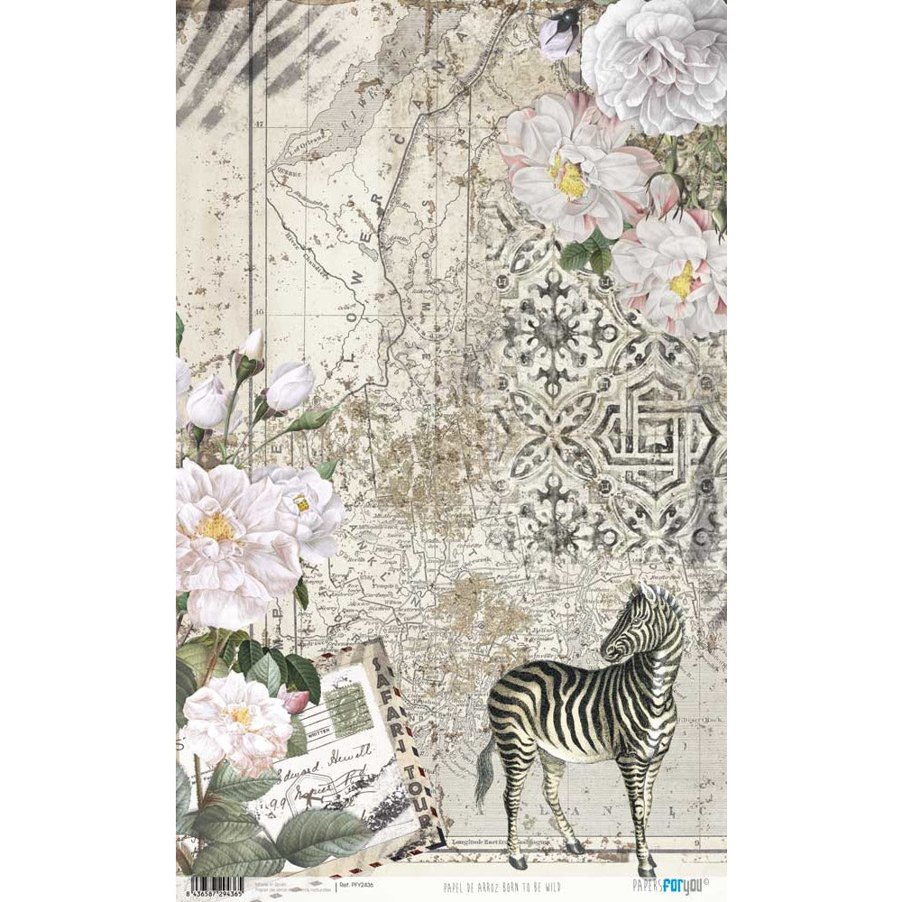 Papel arroz Papers for you 54x33cm PFY2436 born to be wild