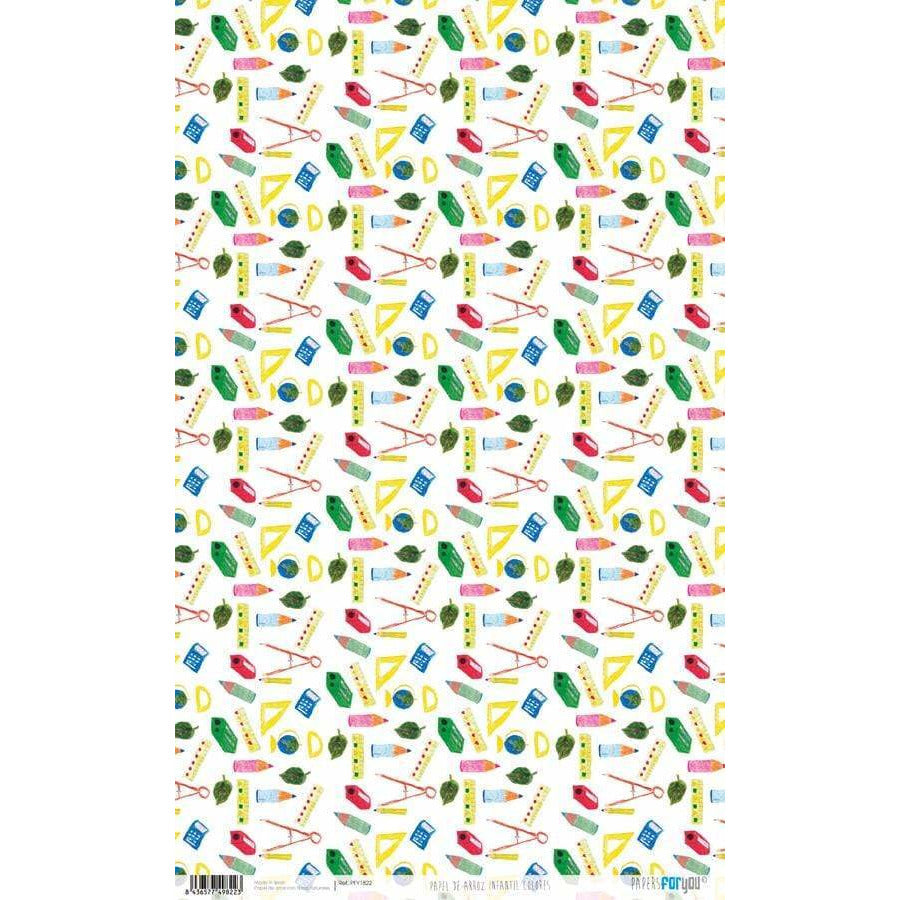 Papel arroz Papers for you PFY1822 infantil colores 54x33cm PEPERS FOR YOU CENTROARTESANO