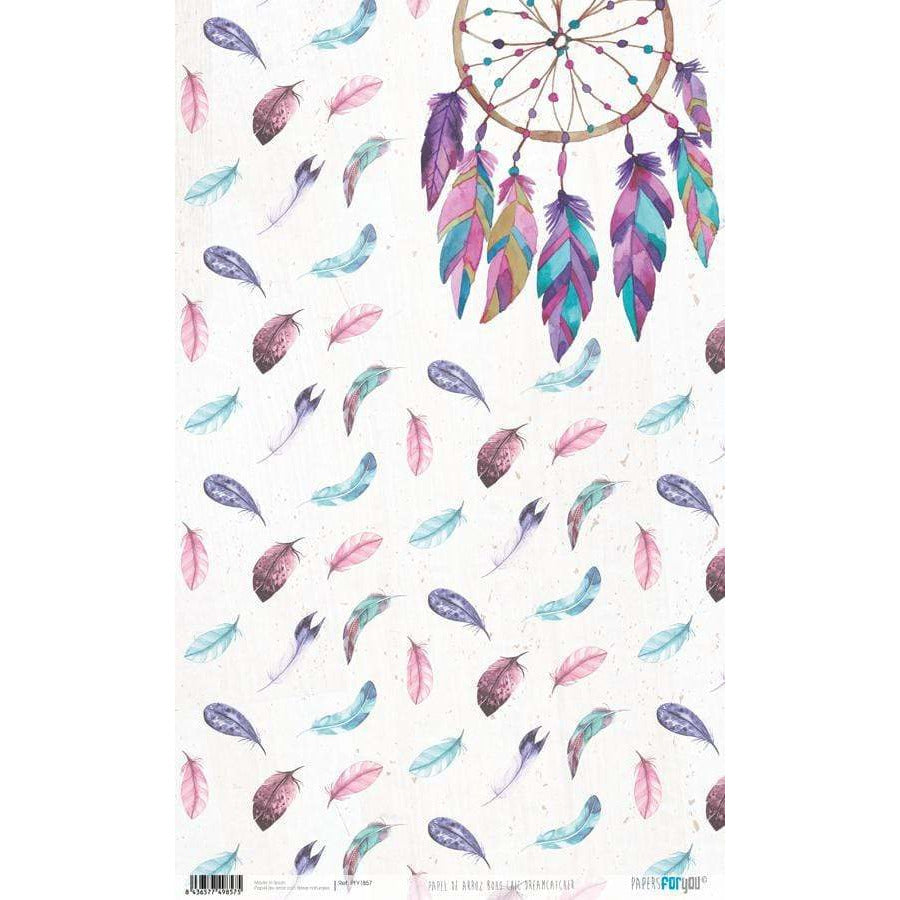 Papel arroz Papers for you PFY1857 Boho chic dreamcatcher 54x33cm PEPERS FOR YOU CENTROARTESANO
