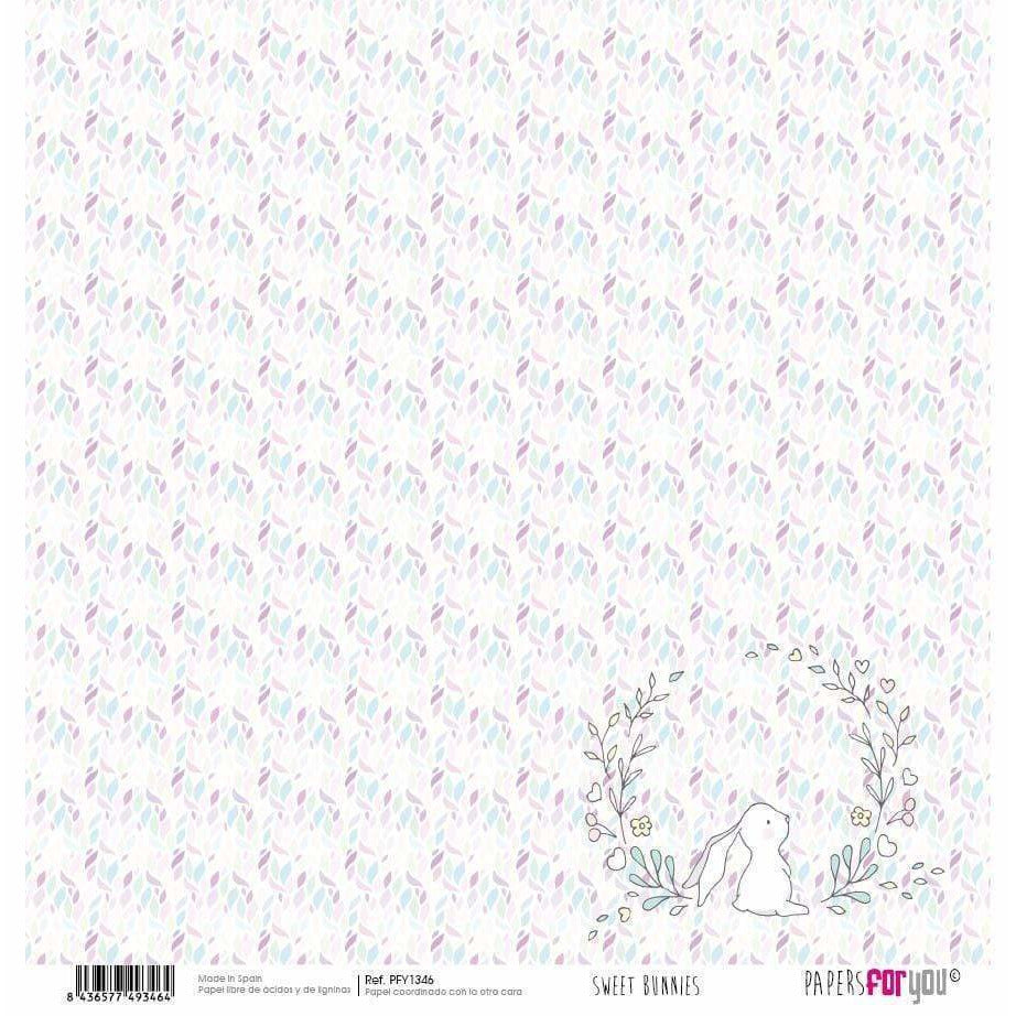 Papersforyou papel scrap sweet bunnies PFY1346 PEPERS FOR YOU CENTROARTESANO