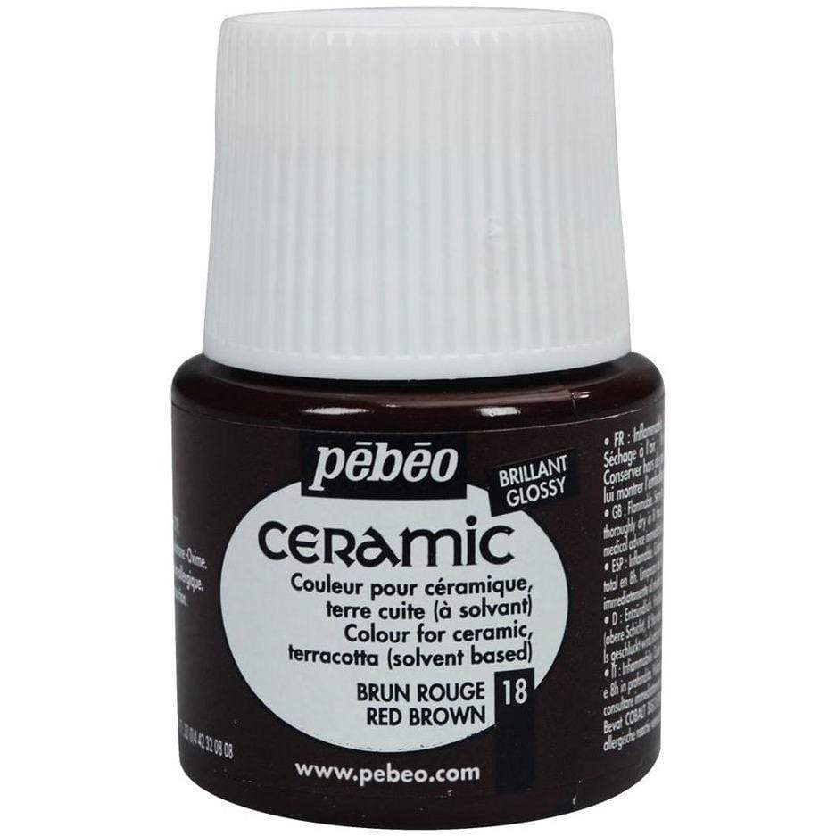 Pebeo Ceramic 18 red brown PEBEO CENTROARTESANO