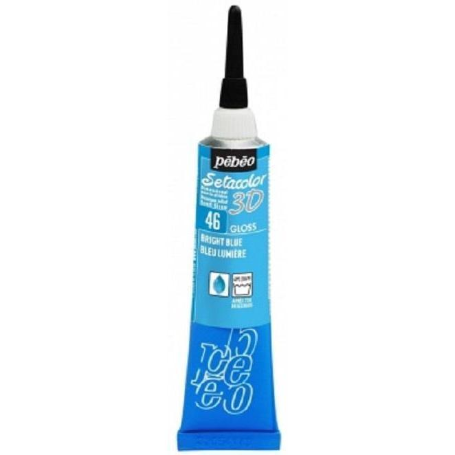Setacolor 3D gloss 20ml 46 azul brillante PEBEO CENTROARTESANO
