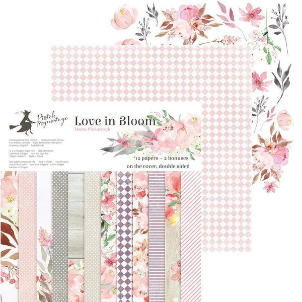 Pack paper piatek 15x15 24hp 13-253 love in bloom