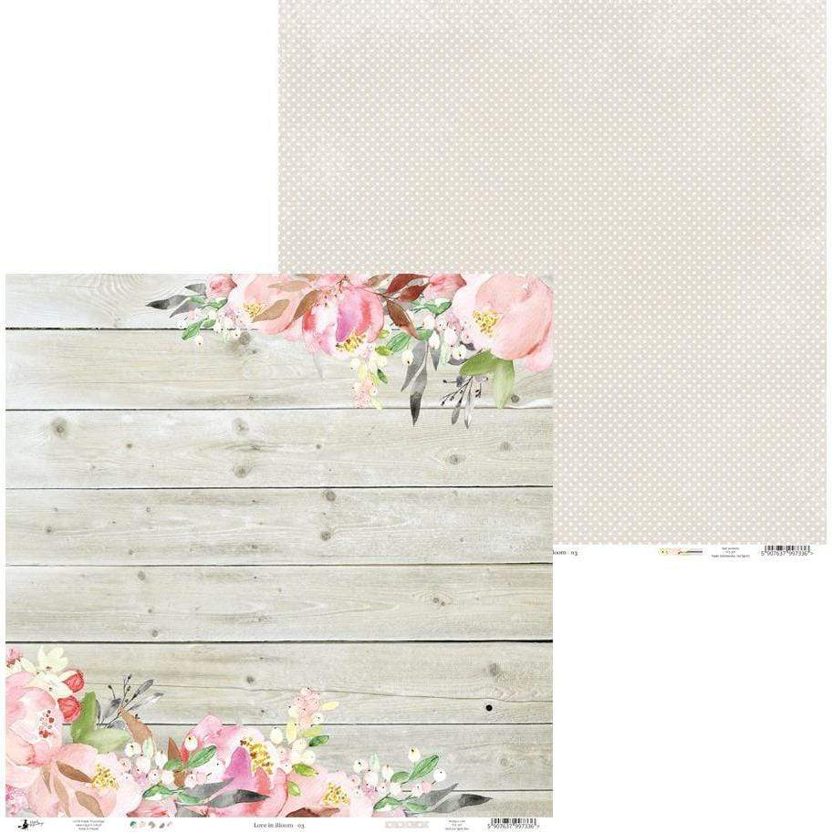 Pack paper piatek 30x30 12H P13-252 love in bloom PIATEK TRYNASTEGO CENTROARTESANO