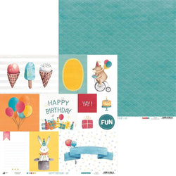 Papel scrap piatek P13-413 happy birthday 06