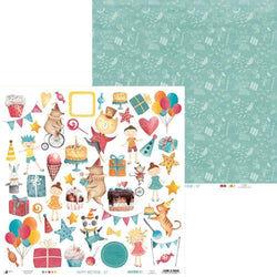 Papel scrap piatek P13-414 happy birthday 07
